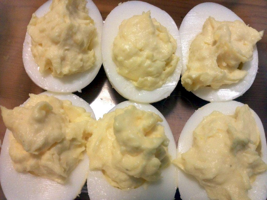 egg yolks and whites reunited