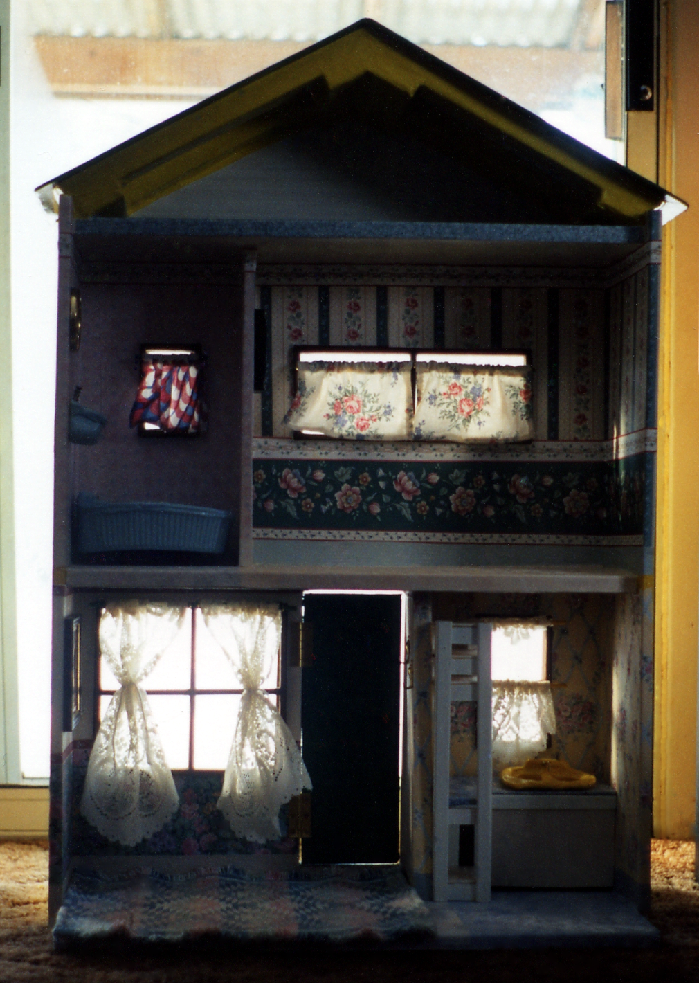 the back of the doll house