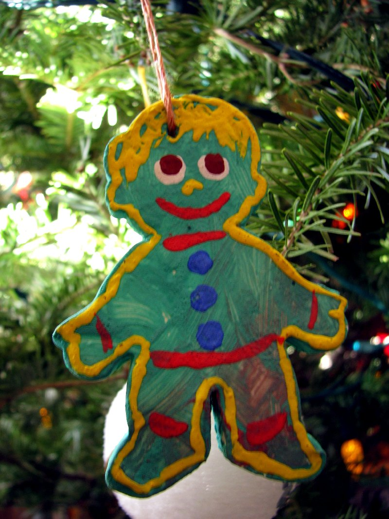 baker's clay gingerbread cookie ornament